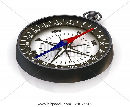 Compass On White