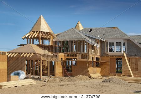 Home addition under construction