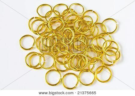 Many brass rings
