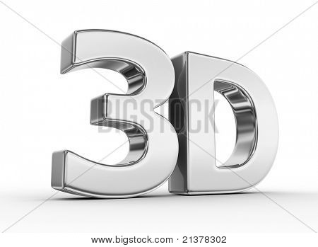 shiny metallic 3d word