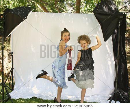 Little girls dress-up