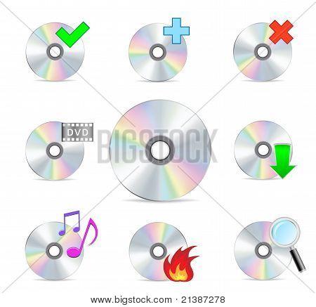 cd dvd disk set