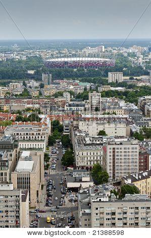 Panorama der Stadt Warschau