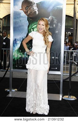 LOS ANGELES - JUNE 15: Blake Lively at the premiere of Warner Bros. Pictures' 'Green Lantern' held at Grauman's Chinese Theatre in Los Angeles,CA on June 15, 2011.