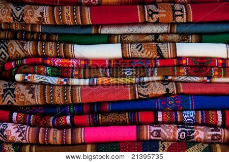 Colorful Peruvian fabric