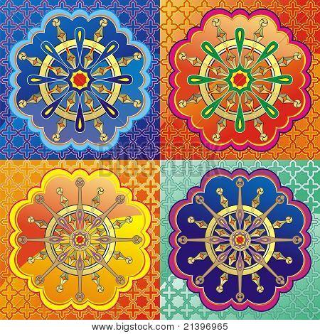 Dharmacakra - dharma wheel