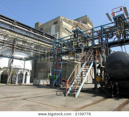 Chemical Factory And Train