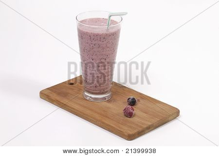 Smoothie With Rasberries And Blueberries