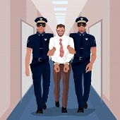 Police Officers Arrested Businessman At Office poster
