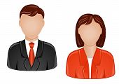 stock photo of people icon  - Icons of man and woman for web design - JPG