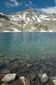 stock photo of engadine  - beautiful alpine lake in engadine - JPG