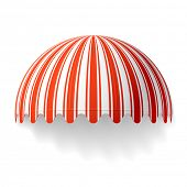 stock photo of awning  - Dome awning - JPG