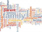 stock photo of niece  - Background concept wordcloud illustration of family - JPG