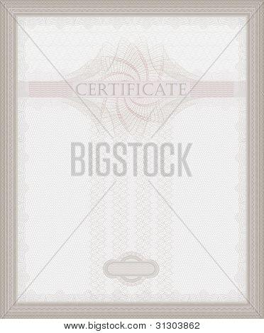 Certificate Guilloche Raster