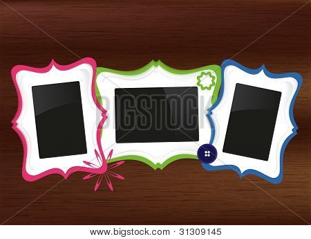 Scrapbook photo frames