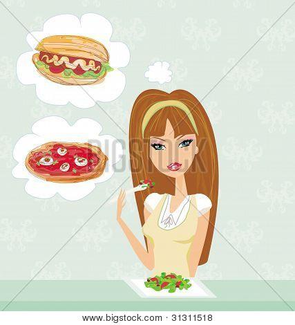 Diet eating temptation