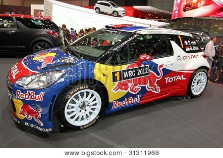 Loeb And Elena Rallye Citroen Ds3 Wrc
