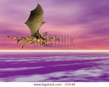 Dragon High In The Sky