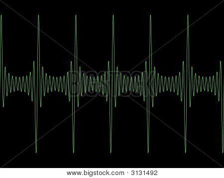 Green Modulated Sine Wave