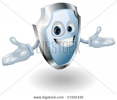 Shield Security Character Mascot