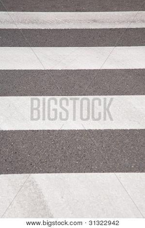 Striped Background Crosswalk