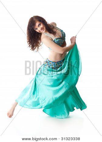beautiful woman in dancing arabic dance