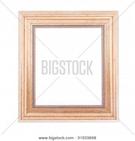 Golden Frame Isolated On White Background.