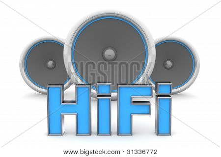 Three Speakers - Hifi In Blue