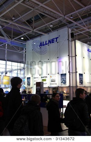 Hannover, Germany - March 10: Stand Of Allnet On March 10, 2012 In Cebit Computer Expo, Hannover, Ge