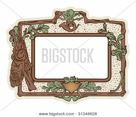 Vector: grunge background with hunting border