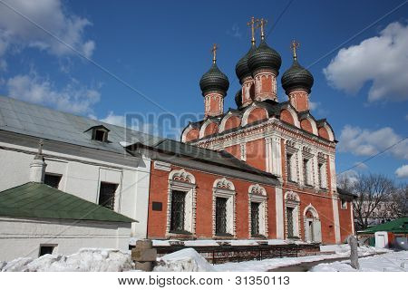 poster of Moscow. Highly Petrovsky Monastery. The temple in honor of Our Lady Mother Bogoliubsk