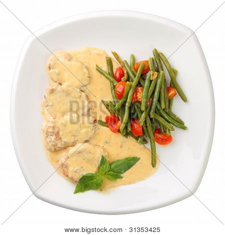 Veal In A Creamy Sauce