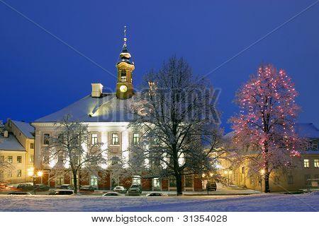Tartu Town-hall, Illuminated