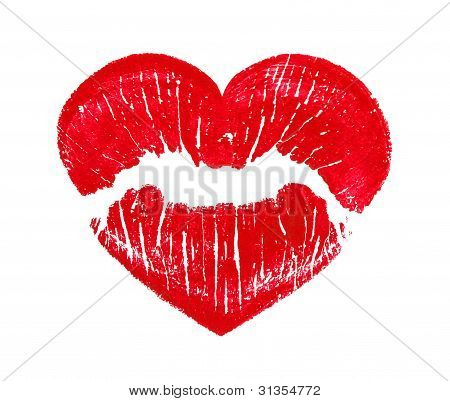 Heart Shape Kissing Lips