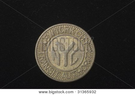 Obsolete New York City transit token