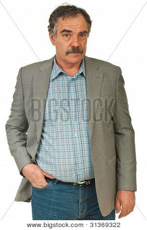 Serious Senior Business Man