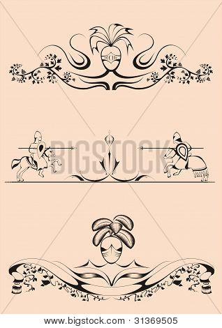 Decorative dividers joust