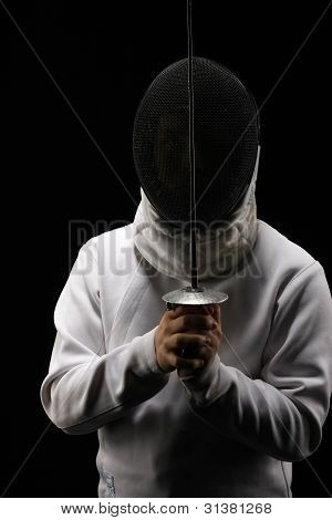 Fencing man