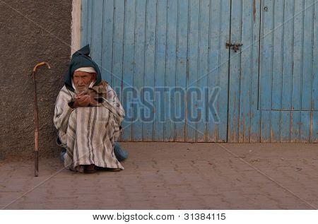 Old begger in Morocco