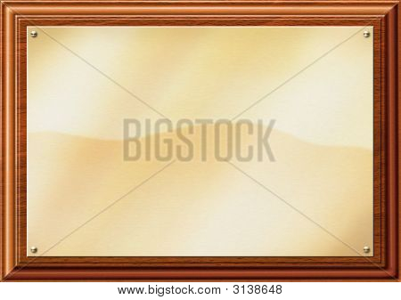 Brass Plaque Flat