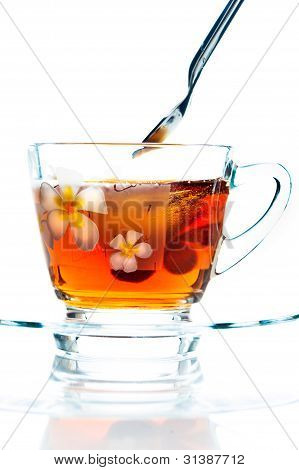 A Cup Of Tea On White Background As A Studio Shot
