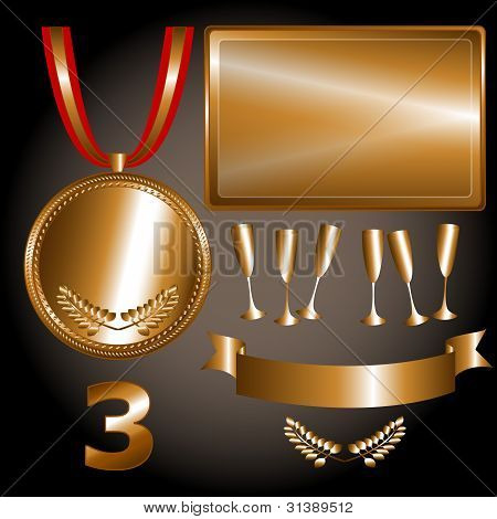 Bronze Elements For Games And Sports