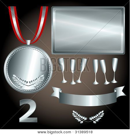 Silver Elements For Games And Sports