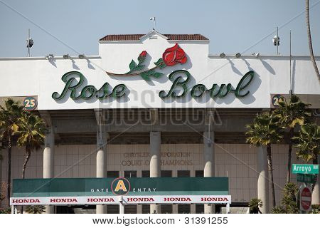 The Rose Bowl In Pasadena, Ca