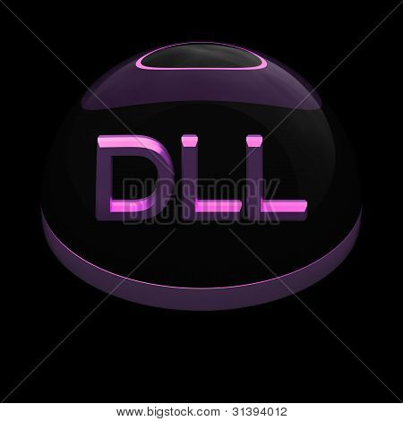 3D Style file format icon - DLL