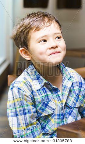 Mischievous Young Boy