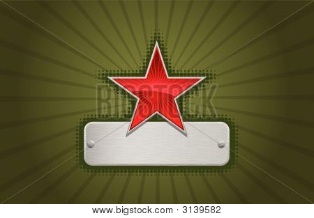 Vector Red And Green Star Frame