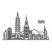 Taipei Metropolis Concept Background. Outline Illustration Of Taipei Metropolis Concept Background F poster