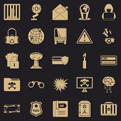 Genius Icons Set. Simple Set Of 25 Genius Icons For Web For Any Design poster