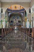 image of assis  - Inside of a catholic cathedral of Assis City Sao Paulo State Brazil - JPG